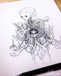 Spirit of Leo - Ink Drawing