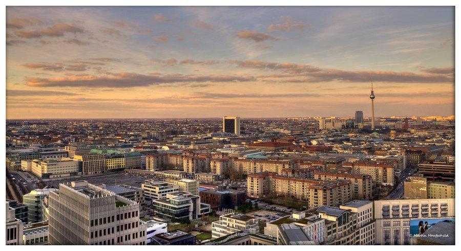 Berlin in evening sun
