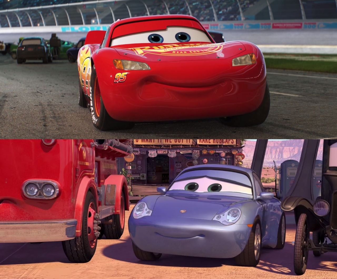 Lightning McQueen And Sally Smiling by Voltron5051 on DeviantArt