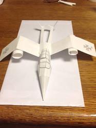 Papierflugzeug 2 (front view) by FRIEND711