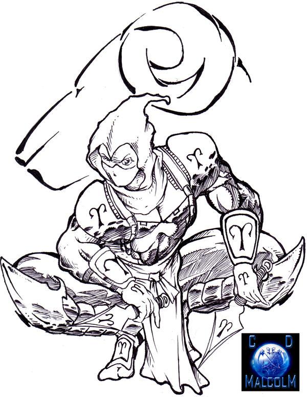 Line Art Ninja : Aries ninja line art by cdmalcolm on deviantart