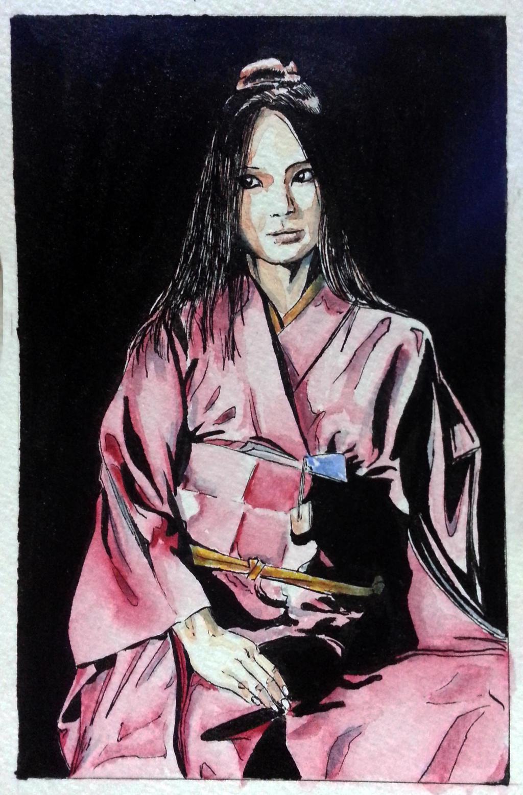 Kimono postcard by ColeBarrett