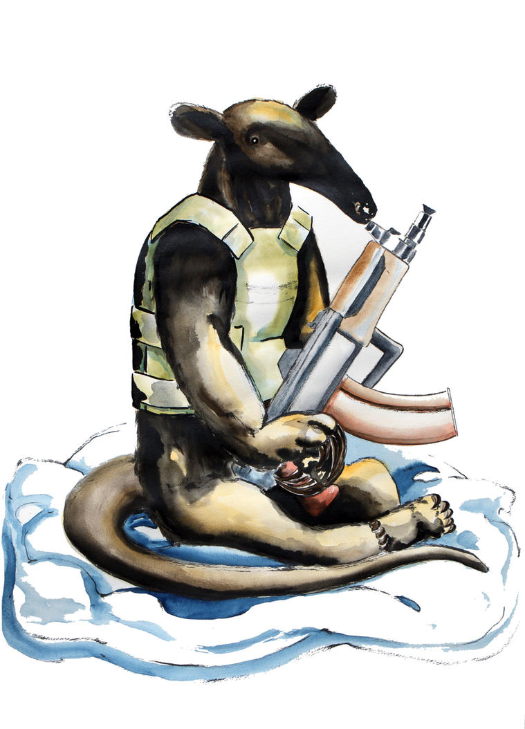 Rodrigo the anteater by ColeBarrett