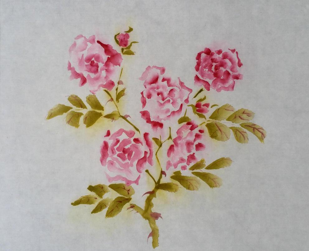 Sumi roses 1 by ColeBarrett