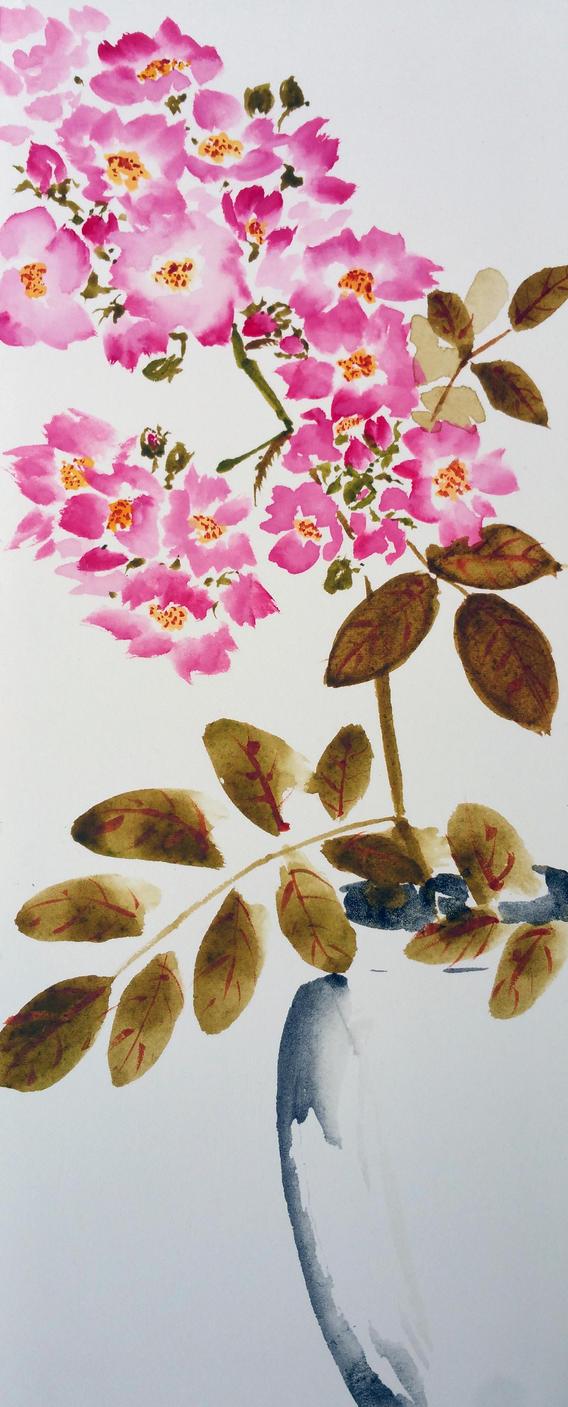Sumi roses 2 by ColeBarrett