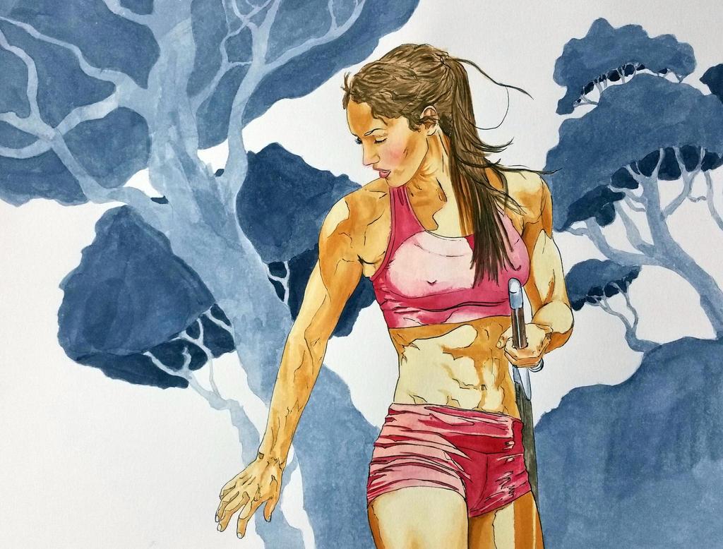 Alison Stokke with sword by ColeBarrett