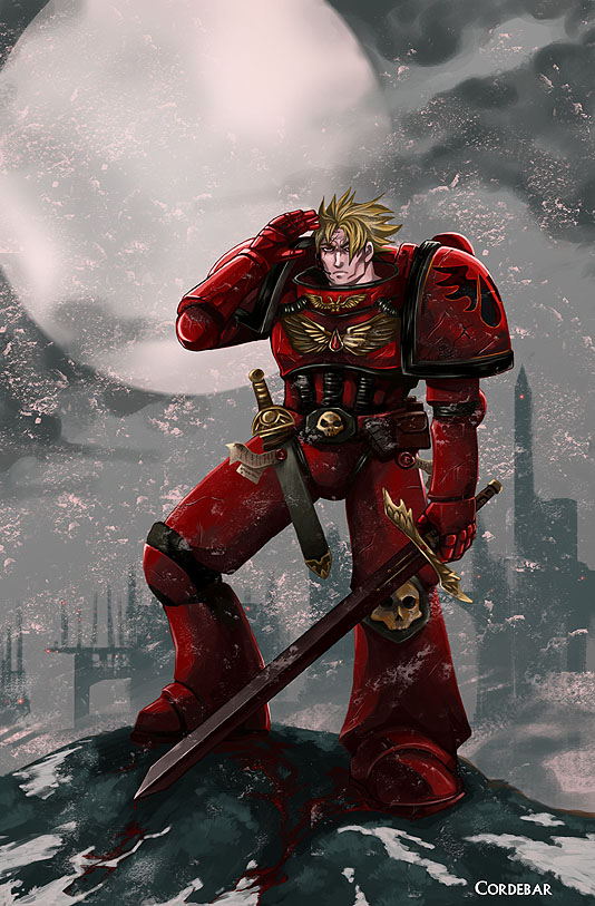 [W40K] Collection d'images : Space Marines Blood_on_the_snow_by_DeDorgoth
