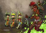 Witch Doctor's reanimating manga heroes!!