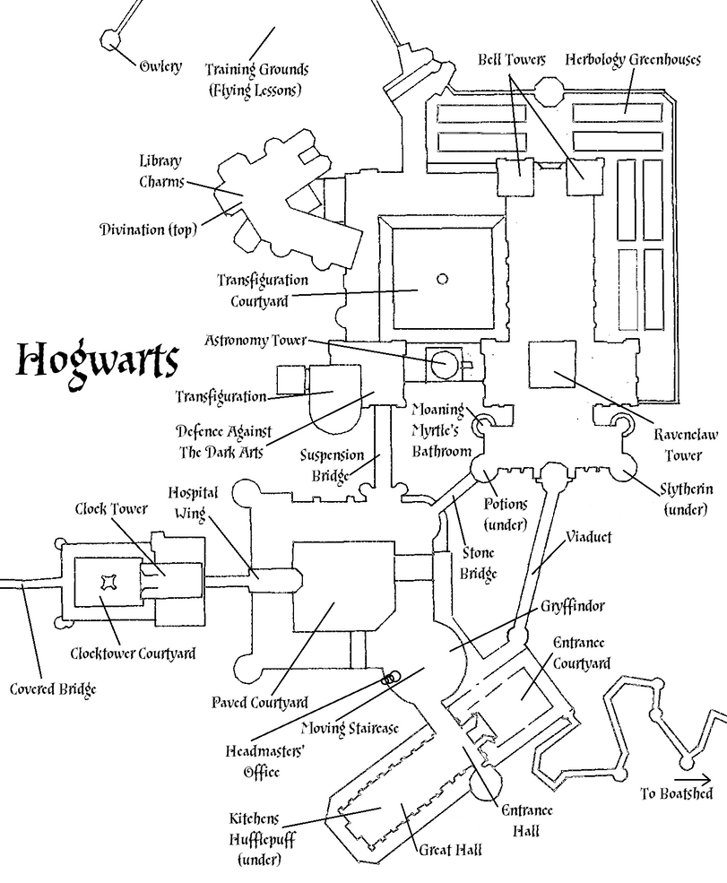 map of hogwarts castle pictures to pin on pinterest