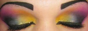 rainbow eyeshadow by Trannsylvanian