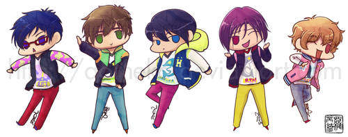 Free!: Ending Stickers by aoineko