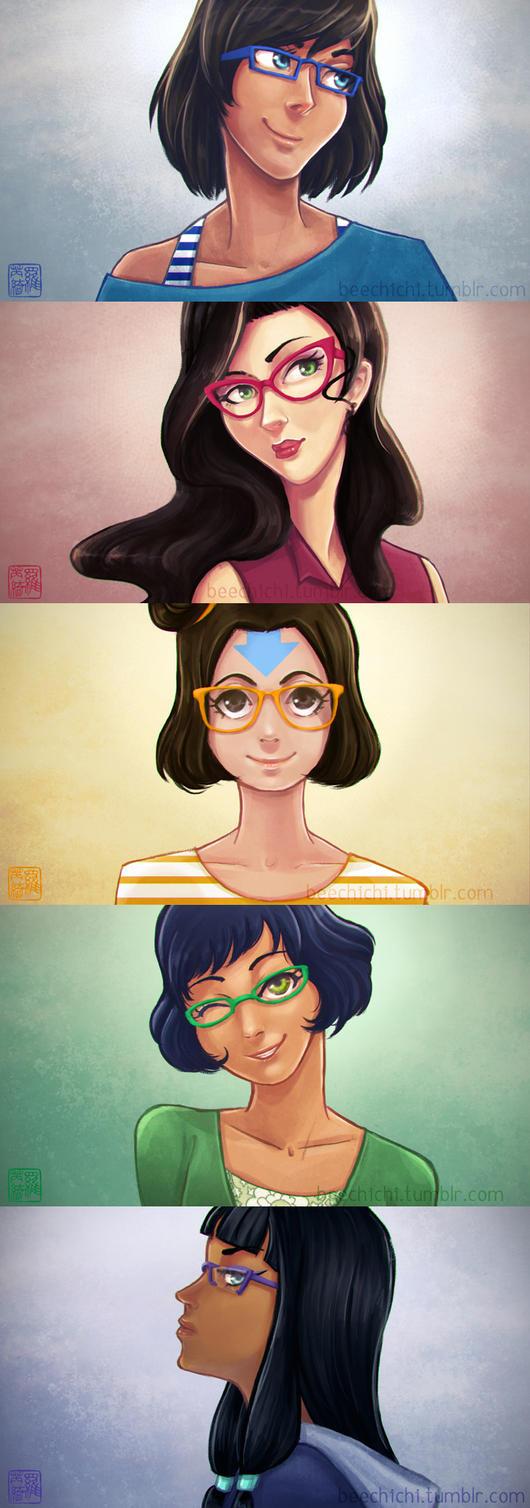 LoK: Rainbow Glasses by aoineko