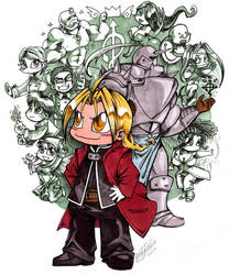 Chibi Full Metal Alchemist by spikecomix