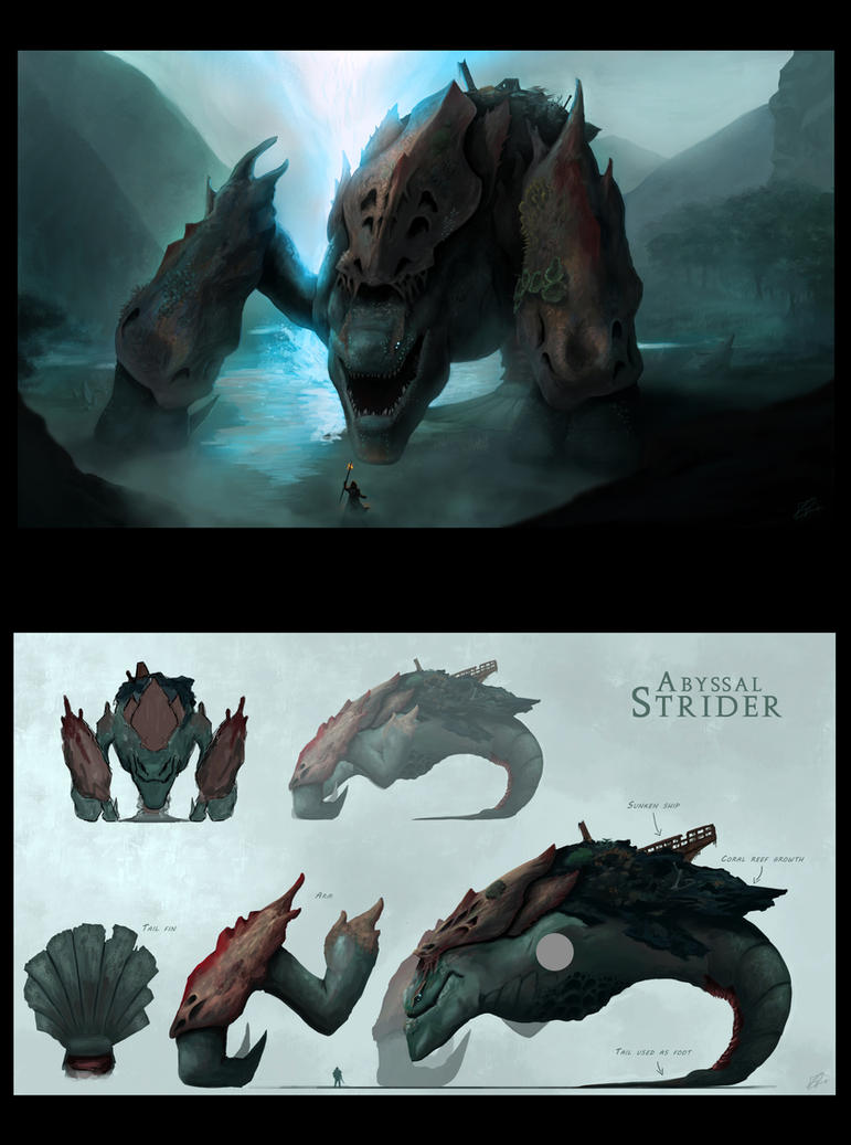 Water Colossus Concept by Aeonsend