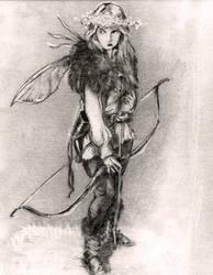 sketch for Fae Huntress Moon Daughter 2 by KurtBrugel