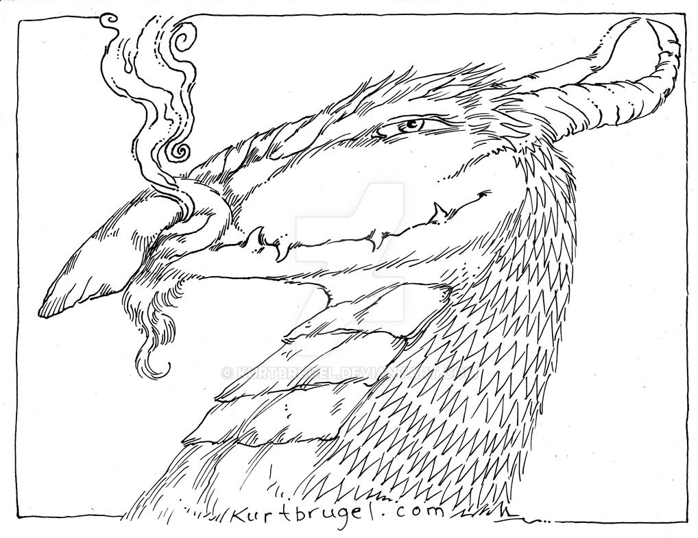 adult coloring page sheet of a dragon on etsy by kurtbrugel