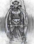 Original Pencil ink Drawing of Kirbys Big Barda