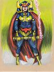 Big Barda Prismacolor original drawing