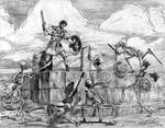 Jason Argonauts Skeletons scene pencil