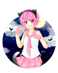 The Pink Cat of Halloween~