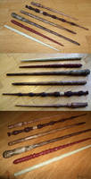 Carved Harry Potter Wands