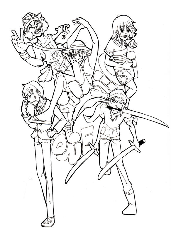 One Piece Lineart : One piece lineart by gixie on deviantart