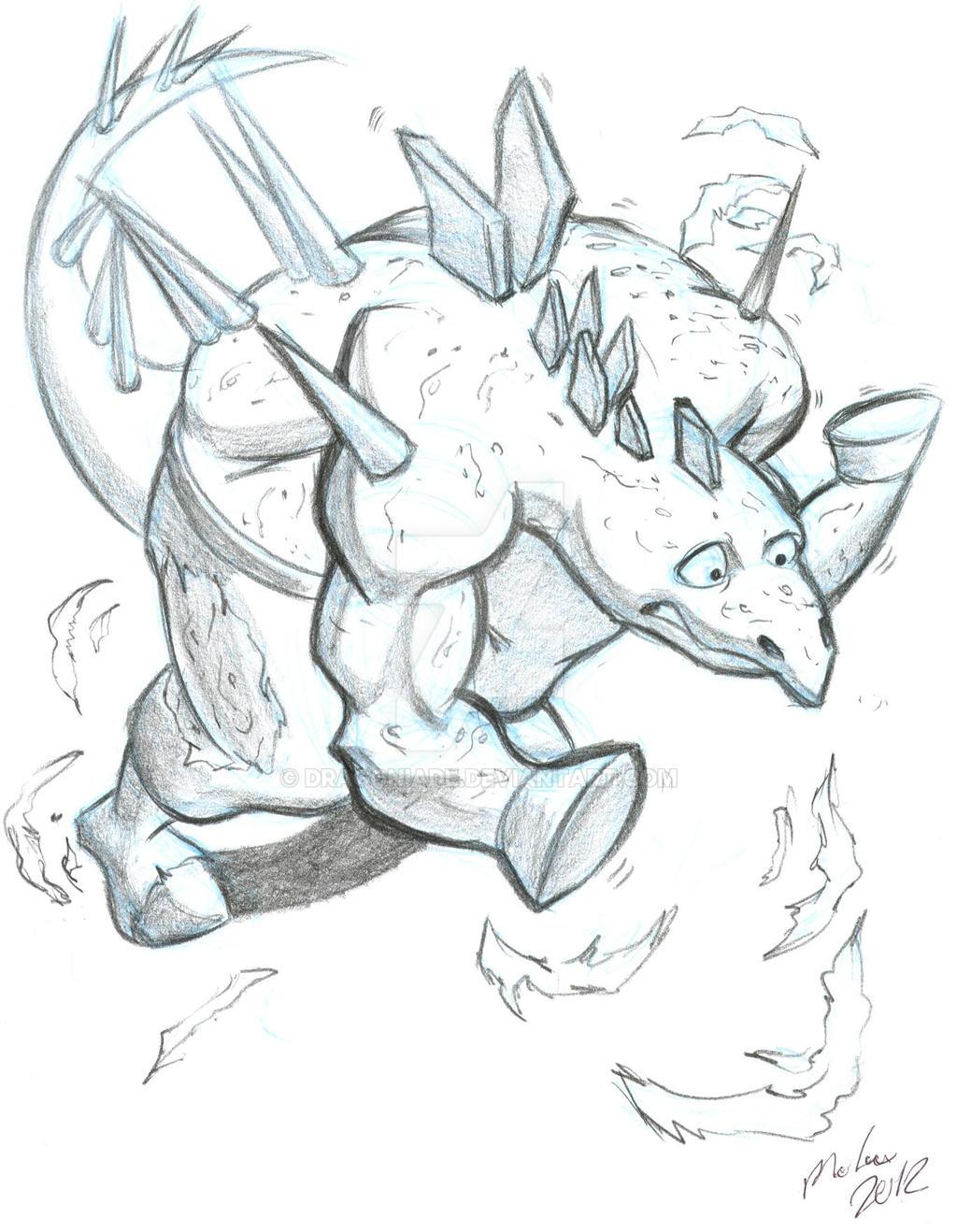 K for Kentrosaurus TF by Dragoniade