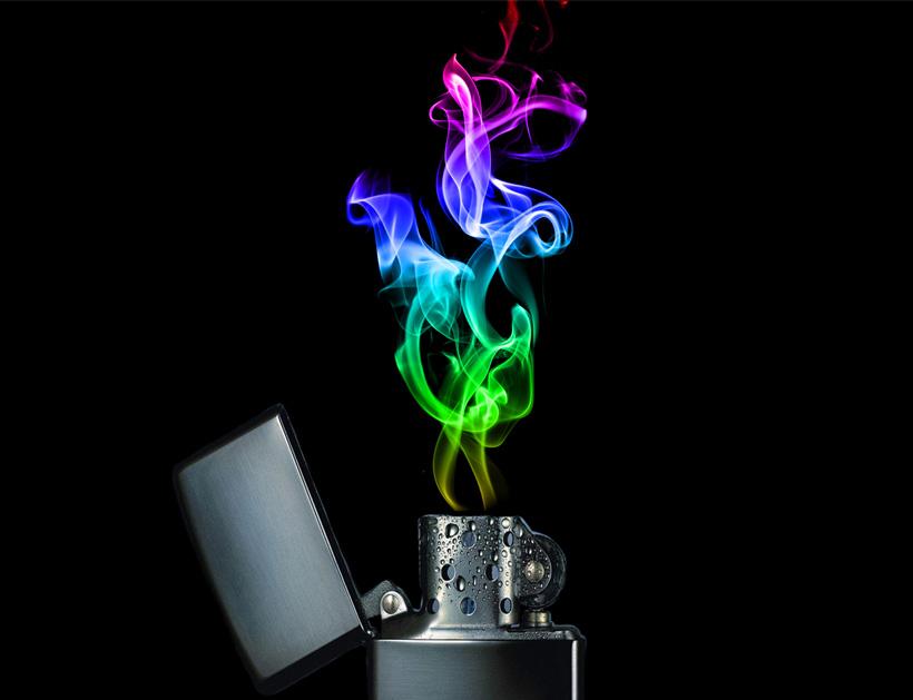 Rainbow Fire Lighter By Bella Beauty