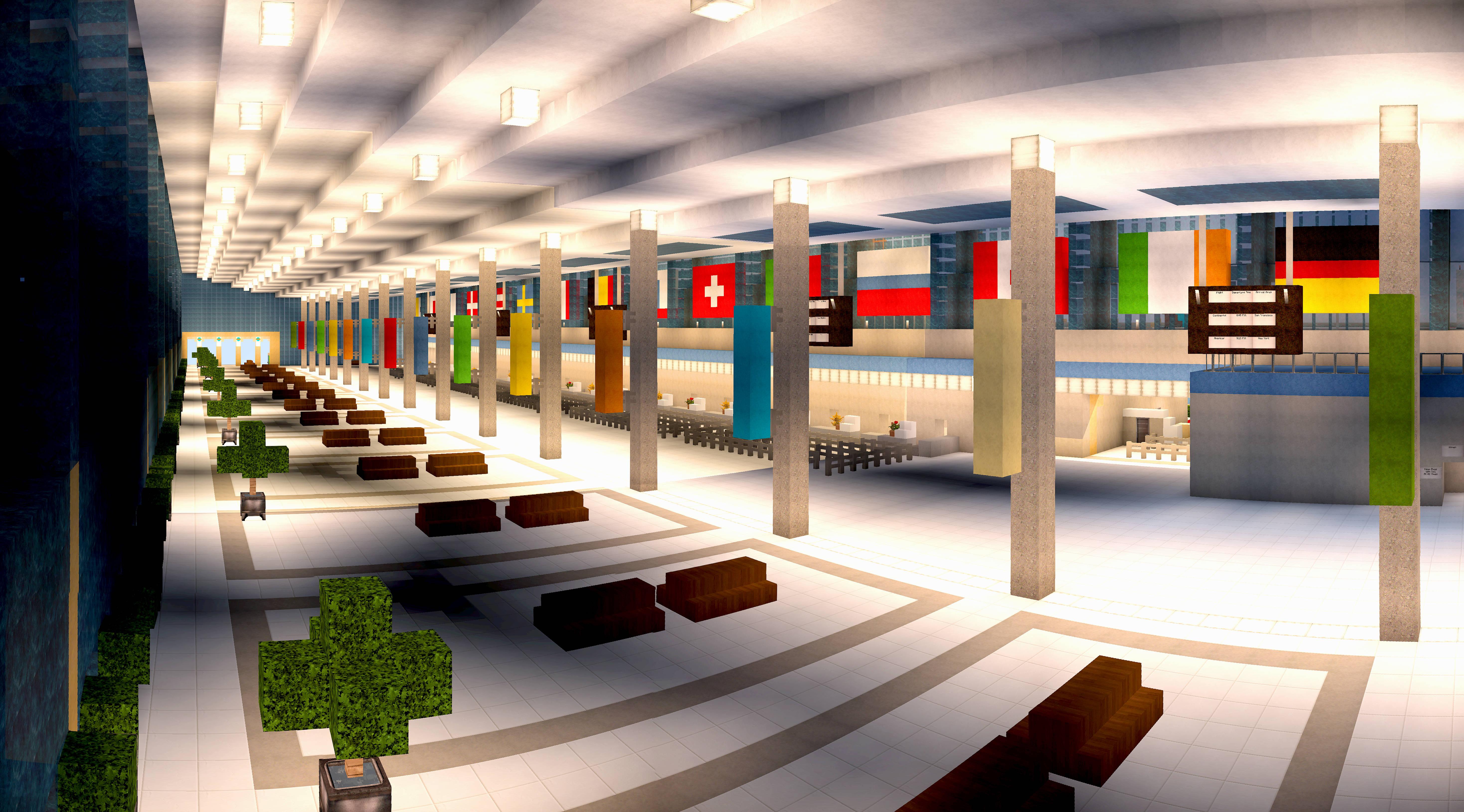 Airport Train Station Built By YazurX 411864510 on Minecraft Wall Designs
