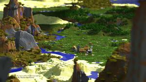 Minecraft -- Plains Village (UHD Wallpaper)