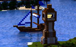 Sharthur City Project | Boat and Lighthouse