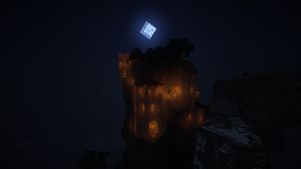 Work In Progress | Mountain Spire Castle (2/--) by MinecraftPhotography