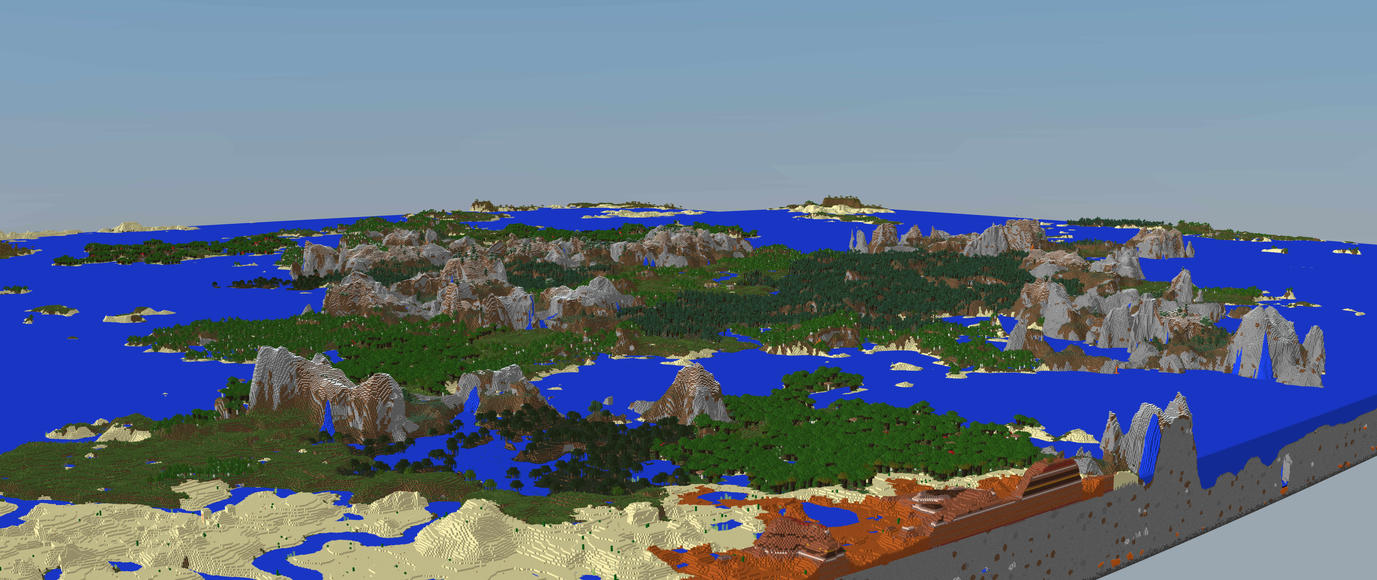 44 Thousand Chunks by MinecraftPhotography