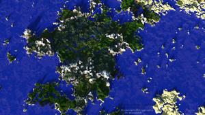 Minecraft   Giant Landmass   Bird's-Eye View