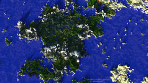 Minecraft | Giant Landmass | Bird's-Eye View by MinecraftPhotography