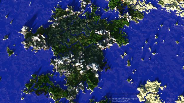 Minecraft | Giant Landmass | Bird's-Eye View