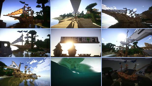 Eight Shots of a Minecraft Creation | Ship