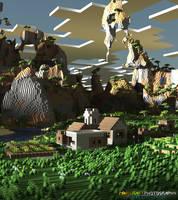 Minecraft | Village Scene