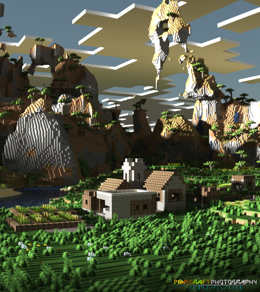 Minecraft | Village Scene by MinecraftPhotography