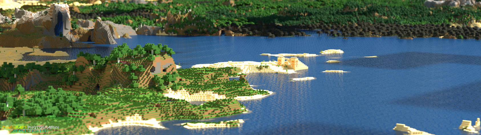 Minecraft | Temple Peninsula by MinecraftPhotography