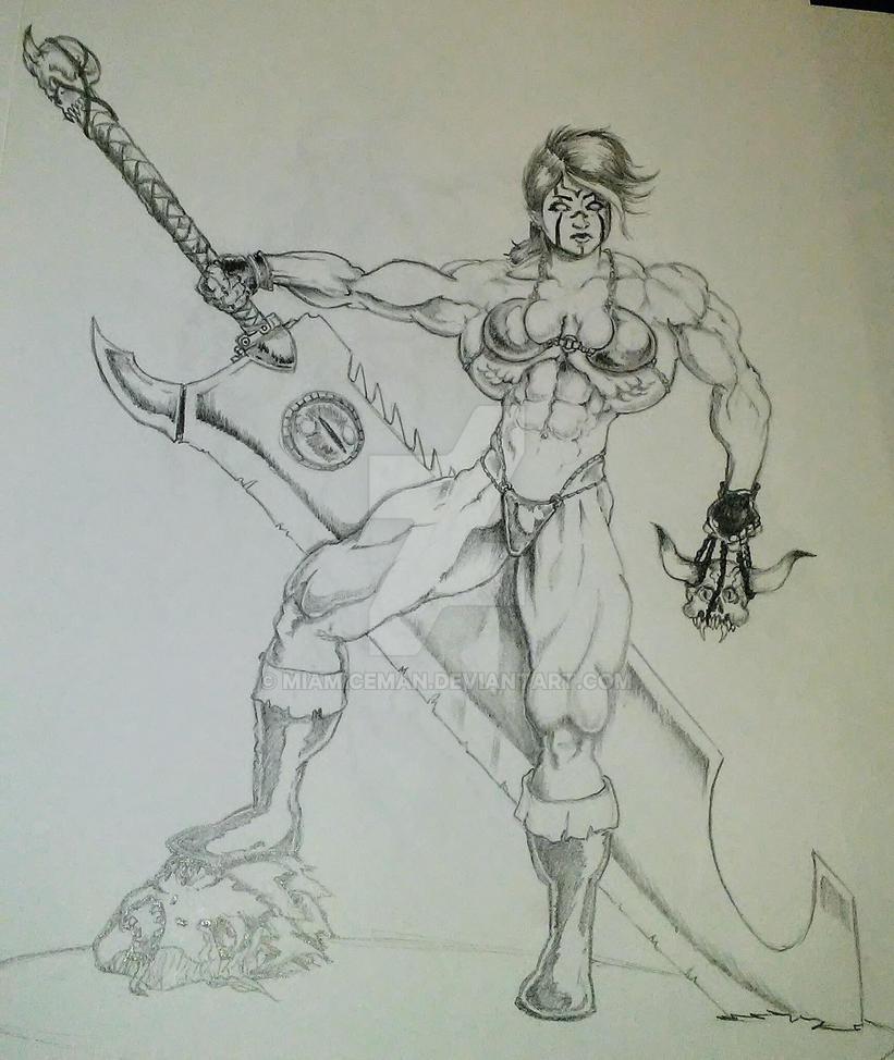 Muscular Master Hunter Aukan Gunwir by MiamIceman