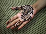 Practicing Henna