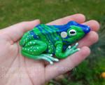 Frog magnet by DragonRider02