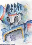 Soundwave Watercolor by DragonRider02