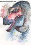 T. Rex portrait by DragonRider02