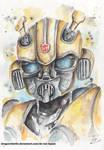 Bumblebee watercolor by DragonRider02