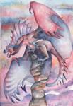 watercolor Dragon by DragonRider02