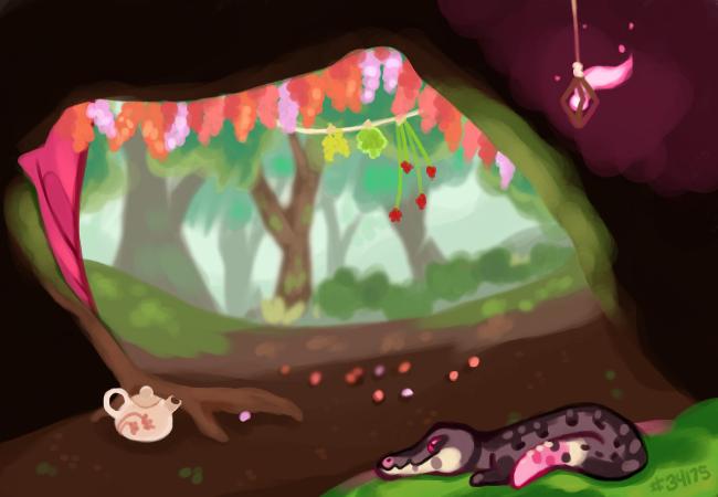momoiro's den by Grasswhistler