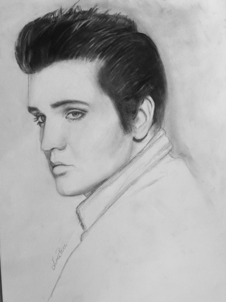 elvis presley drawing by bluecknight