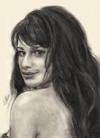 Lea Michele drawing by Bluecknight